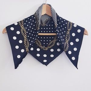 Silk Scarf Dotted Pattern